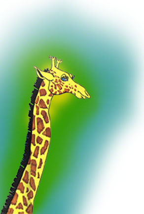 Vancouver Game Farm Giraffe ~ Illustration by Patrice