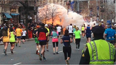Bombing at the Boston Marathon ~ photo courtesy of CNN