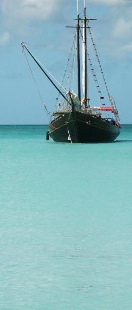 Sailing Ship in Aruba ~ photo by Patrice