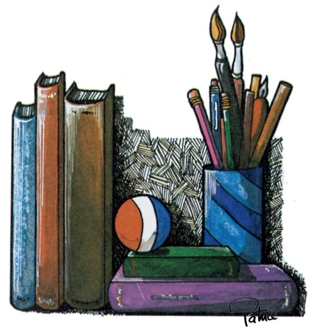 Starting Points in Math ~ Illustration by Patrice for publisher, Ginn & Company
