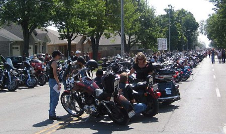 Friday the 13th in Port Dover ~ photo courtesy of www.pd13.com