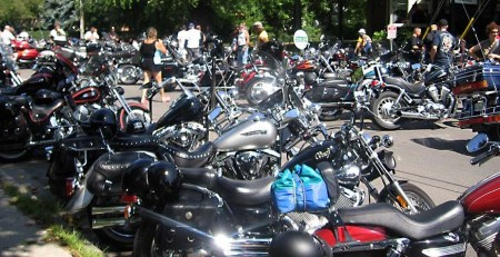 Harleys in Port Dover ~ photo courtesy of www.pd13.com