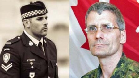 Cpl. Nathan Cirillo, Warrant Officer Patrice Vincent ~ Photo courtesy of www.cbc.ca