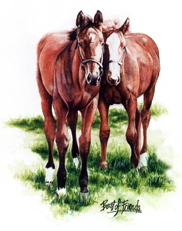 2 Best Friends ~ Watercolour Painting by Patrice