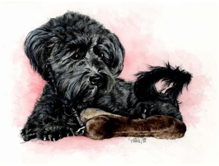 Brave Lucy ~ Watercolour by Patrice