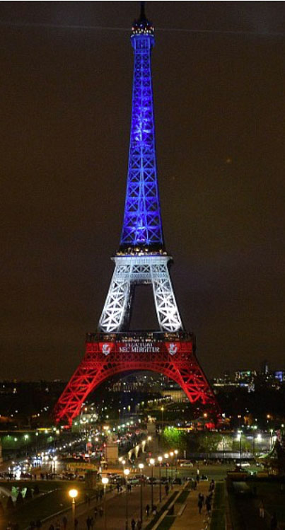 EiffelTower ~ Photo by Bruce Adams/Daily Mail
