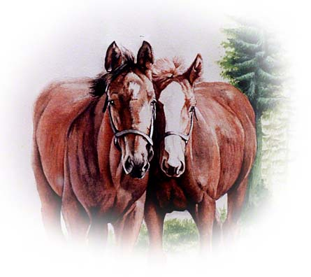 2 Friends ~ Watercolour by Patrice