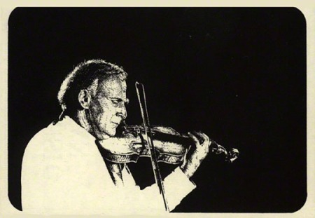 Pen & Ink Illustration of Yehudi Menuhin by Patrice