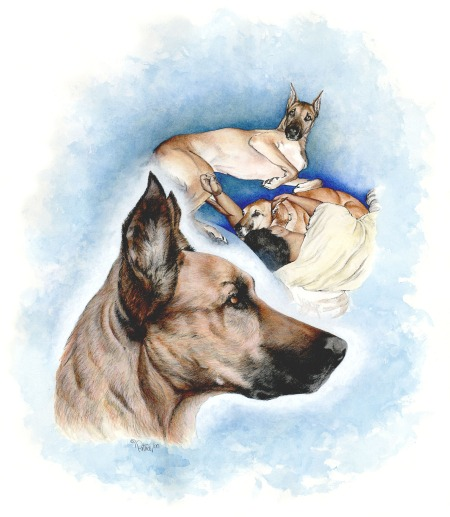 Brandy & Charles ~ Watercolour Art by Patrice