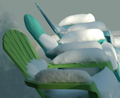 Summer Chairs in Winter ~ photo by Patrice