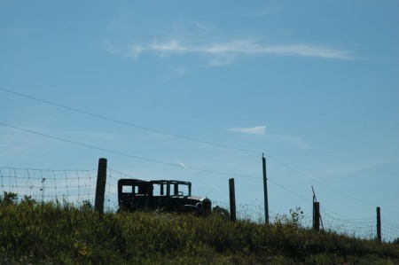 Model T on the hill ~ Photo by Patrice