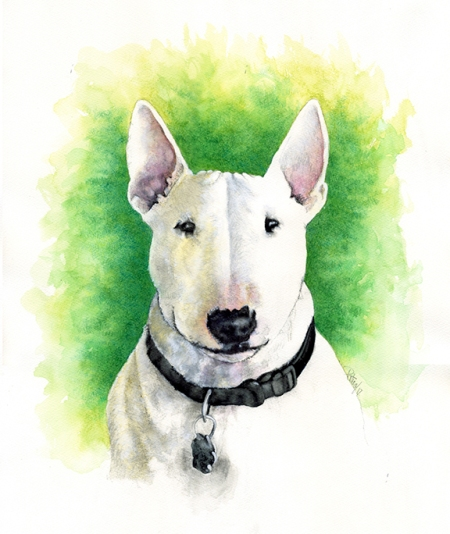 Parker ~ Watercolour Art by Patrice