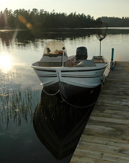 Dave's Boat in North Bay ~ Photo by Patrice