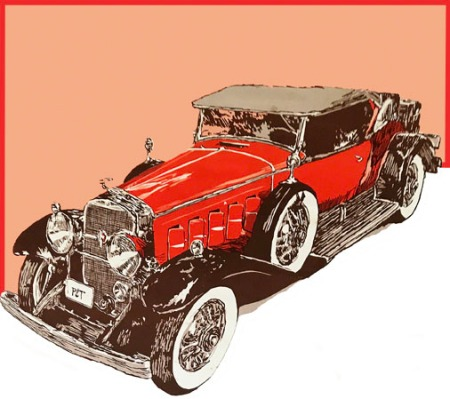 Classic Car ~ Illustration by Patrice for B.C. Central Credit Union