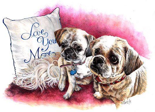 No Writing ~ Watercolour Pet Portrait Art by Patrice