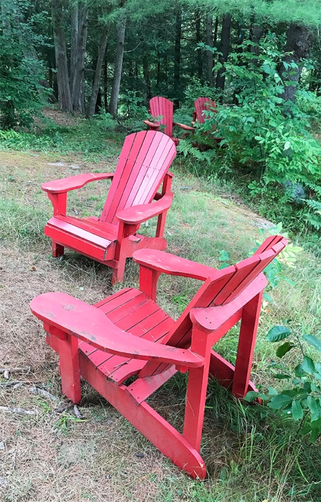 Red Chairs ~ Photo by Patrice