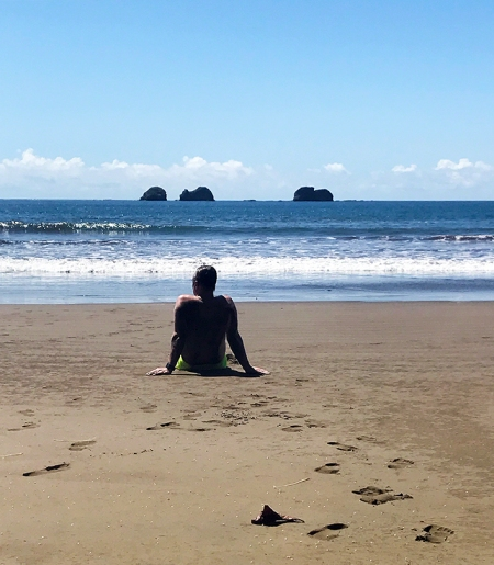 Costa Rica Beach Contemplation ~ Photo by Patrice