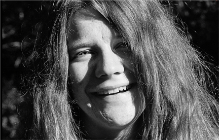 Janis Joplin during photoshoot for Big Brother & Holding Company, Forest Knolls, CA. 1967. © Lisa Laws