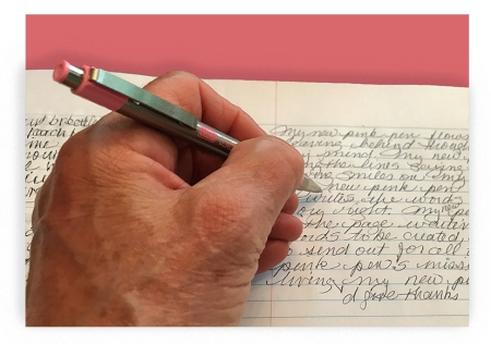 My New Pink Pen ~ Photo by Patrice