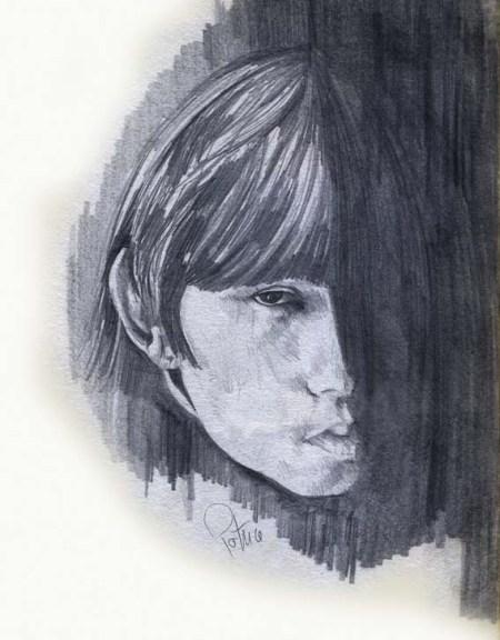 Face Study ~ Illustration by Patrice
